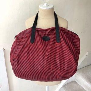 Gucci Vintage Striped Weekender Duffle Bag